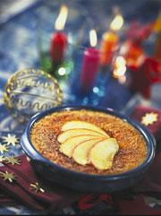 CREME BRULE AUX POMMES.Dessert